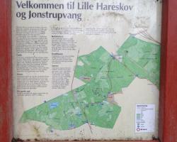 Hareskov - Jonstrupvang. Skilt