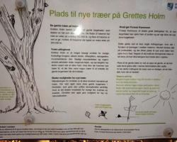 Farum Sø - Grettes Holm. Skilt