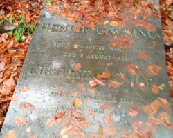 Lyngby - Henrik Cavling. Gravsted