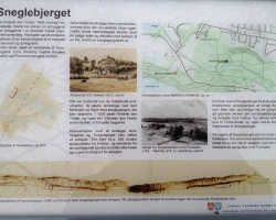 Frederiksdal - Bjerget. Skilt